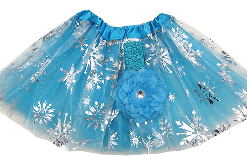 TS-412  Girls'  Tutu with Head Band and Flower