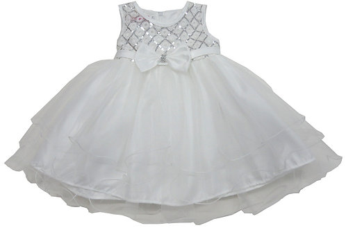 72-101 Infants'  Tulle  Embroidered  Dress