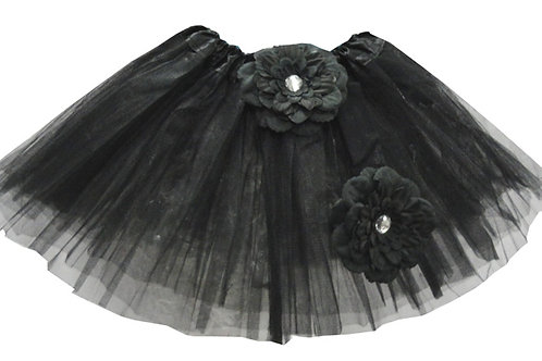 T888  Girls'  Tutu with Head Band and Flower
