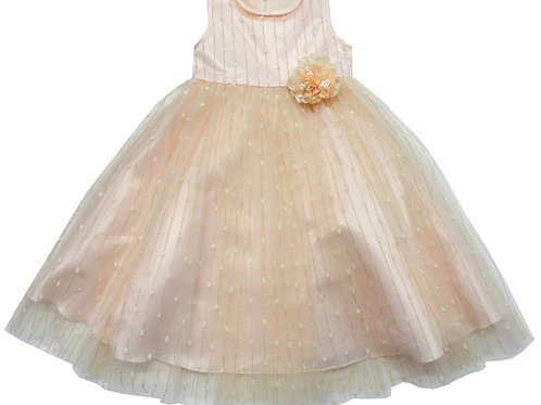 84-606T Toddler Girls' Tulle  Embroidered  Dress