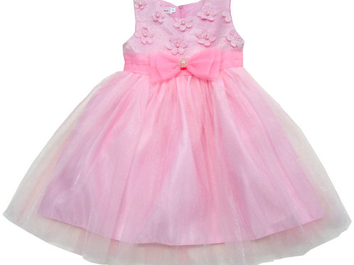 84-613T Toddler Girls' Tulle  Embroidered  Dress