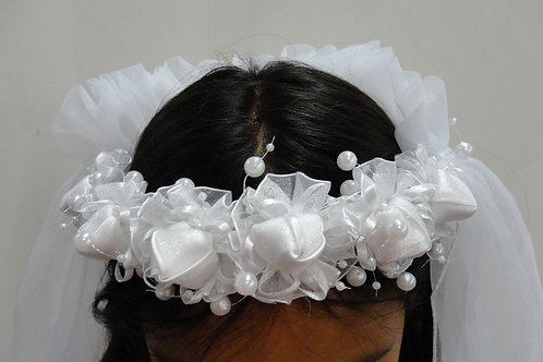 V-193  Flower Girl Veil 2 Layers Tulle Wedding Veil