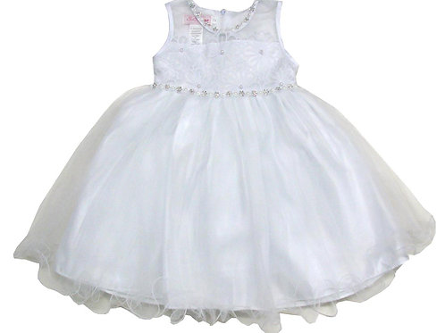 85-201X Girls' (4-6X) Tulle  Embroidered  Dress