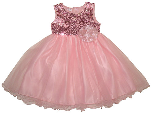 94-404X Girls' (4-6X)  Tulle  Sequin  Dress