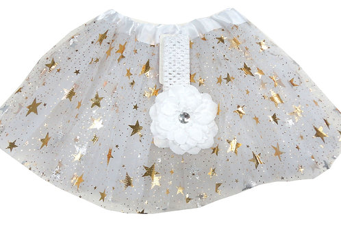 T805GL  Girls' Star Tutu with Head Band and Flower