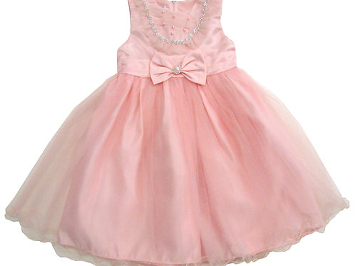94-411T Toddler Girls' Tulle Embroidered  Dress