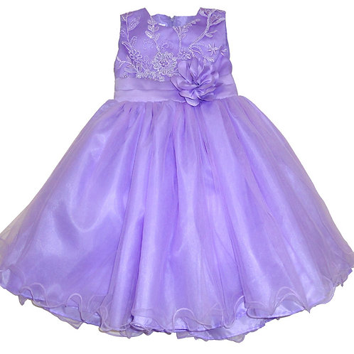 67-853T Toddler Girls' Tulle  Embroidered  Dress