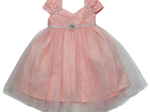 72-104X Girls' (4-6X) Tulle  Embroidered  Dress