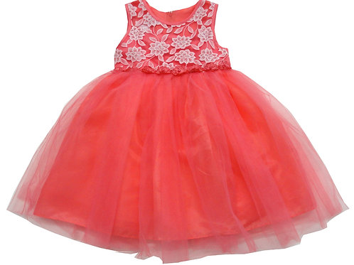 85-01L Girls' (4-14) Tulle  Embroidered  Dress
