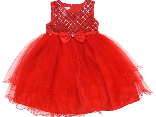 72-101X Girls' (4-6X) Tulle  Embroidered  Dress