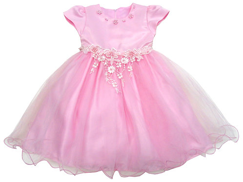 72-110T Toddler Girls' Tulle  Embroidered  Dress