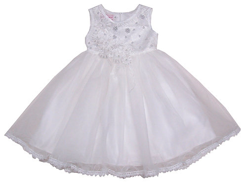 94-413T Toddler Girls' Tulle Embroidered  Dress