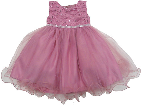 72-106 Infants'  Tulle  Embroidered  Dress