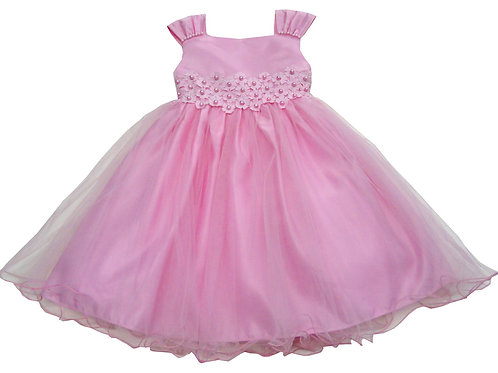 72-111T Toddler Girls' Tulle  Embroidered  Dress