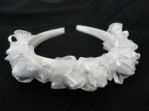 V-53 Girl Satin Rosette Headband