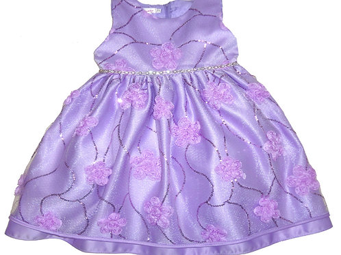67-851T Toddler Girls' Tulle  Embroidered  Dress