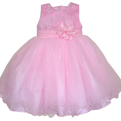 67-853X Girls' (4-6X) Tulle  Embroidered  Dress