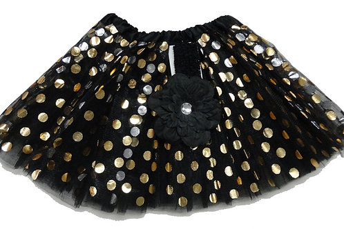 T129 Girls' Tutu with Head Band And Flower
