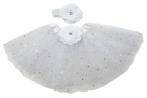 TW125LW  Girls' star Tutu with Head Band and Flower
