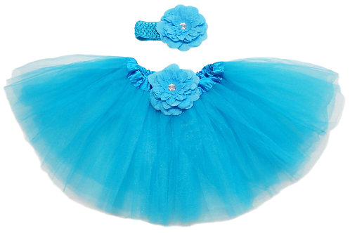 TP16B Infant'  Tutu with Head Band and Flower