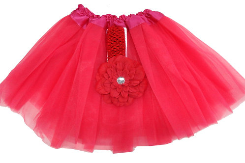 T812L  Girls'  Tutu with Head Band and Flower