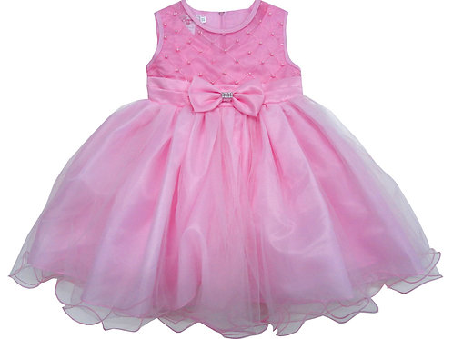 67-852T Toddler Girls' Tulle  Embroidered  Dress