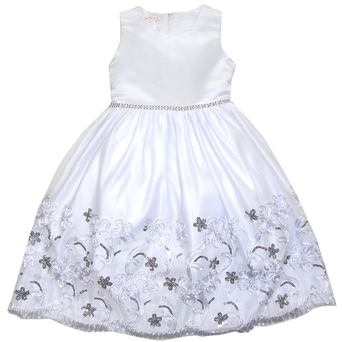 65-323X Girls' (4-6X) Embroidered Sequin Dress