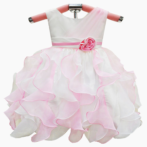 66-308 Infants' Satin  Ruffles Dress