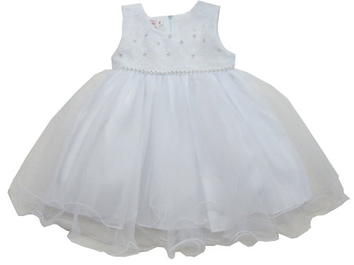 84-603T Toddler Girls' Tulle  Embroidered  Dress