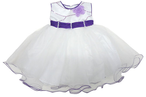 67-850X Girls' (4-6X) Tulle  Embroidered  Dress
