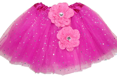 TH158LFU  Girls' Heart Tutu with Head Band and Flower