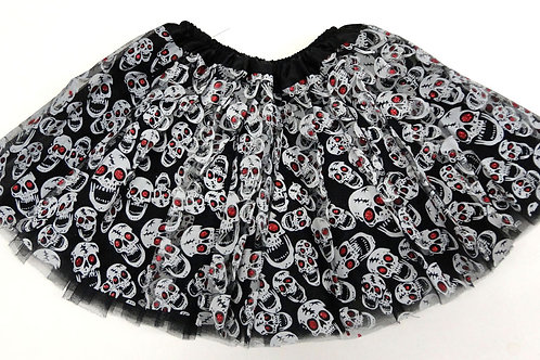 SK-149L  Girls' Skull Tutu