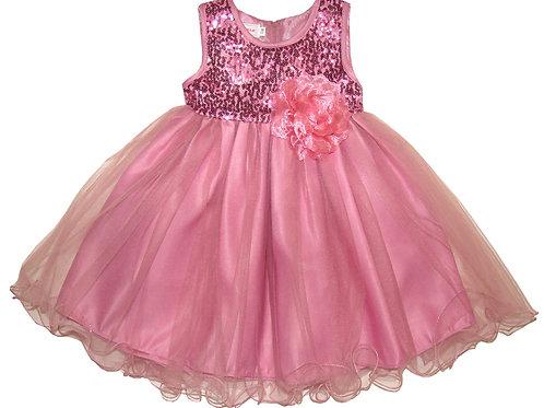 94-404T Toddler Girls'  Tulle  Sequin  Dress