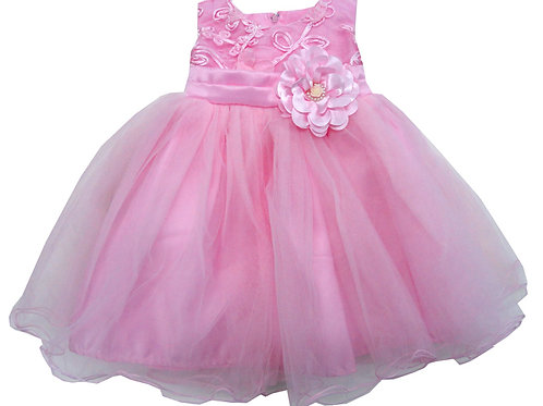 65-305X Girls' (4-6X) Tulle  Embroidered  Dress