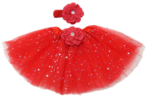 TW125BR Infant'  Star Tutu with Head Band and Flower