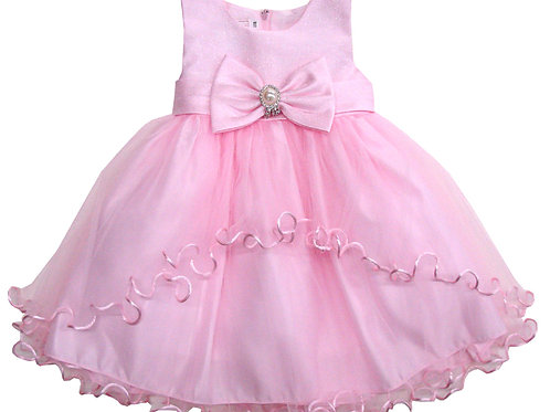 94-406 Infants'  Satin Tulle  Dress