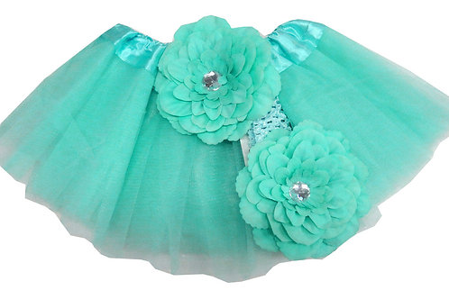 T311B Infant'  Tutu with Head Band and Flower