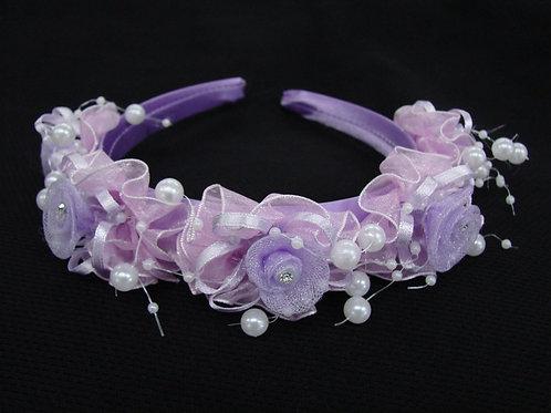 V-61 Girl Satin Rosette Headband