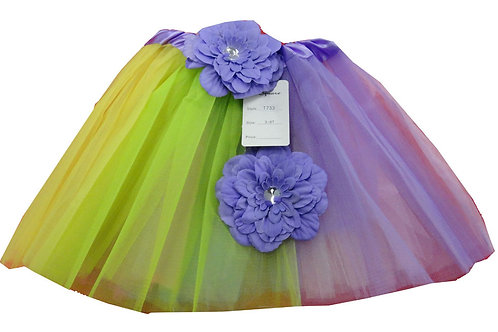 T733  Girls'  Tutu with Head Band and Flower