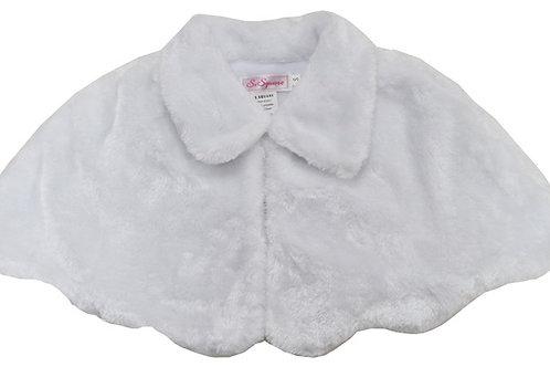 66-02 White Fur Cape