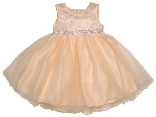 94-403T Toddler Girls'  Tulle Embroidered  Dress