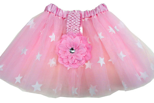 T751L  Girls' Star Tutu with Head Band and Flower