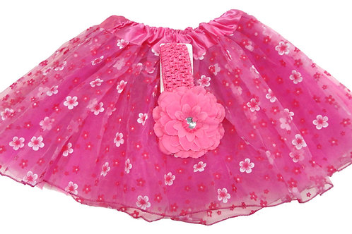T893  Girls' Flower Tutu with Head Band and Flower
