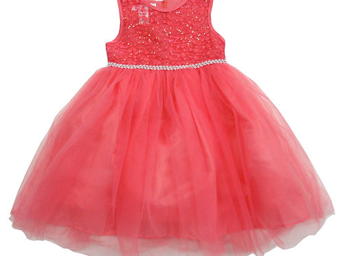 85-15 Infants' Tulle  Embroidered  Dress