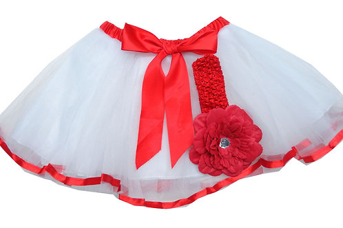 T601  Girls'  Tutu with Head Band and Flower