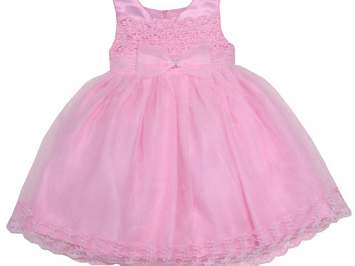 94-409 Infants' Organza  Embroidered  Dress