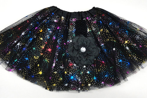 T506L  Girls' Star Tutu with Head Band and Flower
