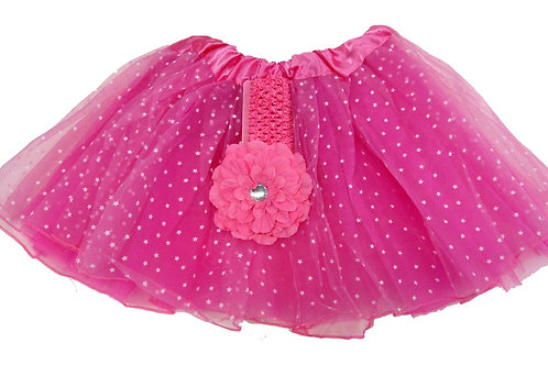 T891  Girls' Star Tutu with Head Band and Flower