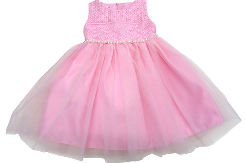 67-863 Infants'  Tulle  Embroidered  Dress