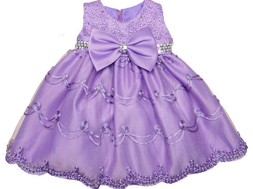 66-411T Toddler Girls' Embroidered Sequin Dress